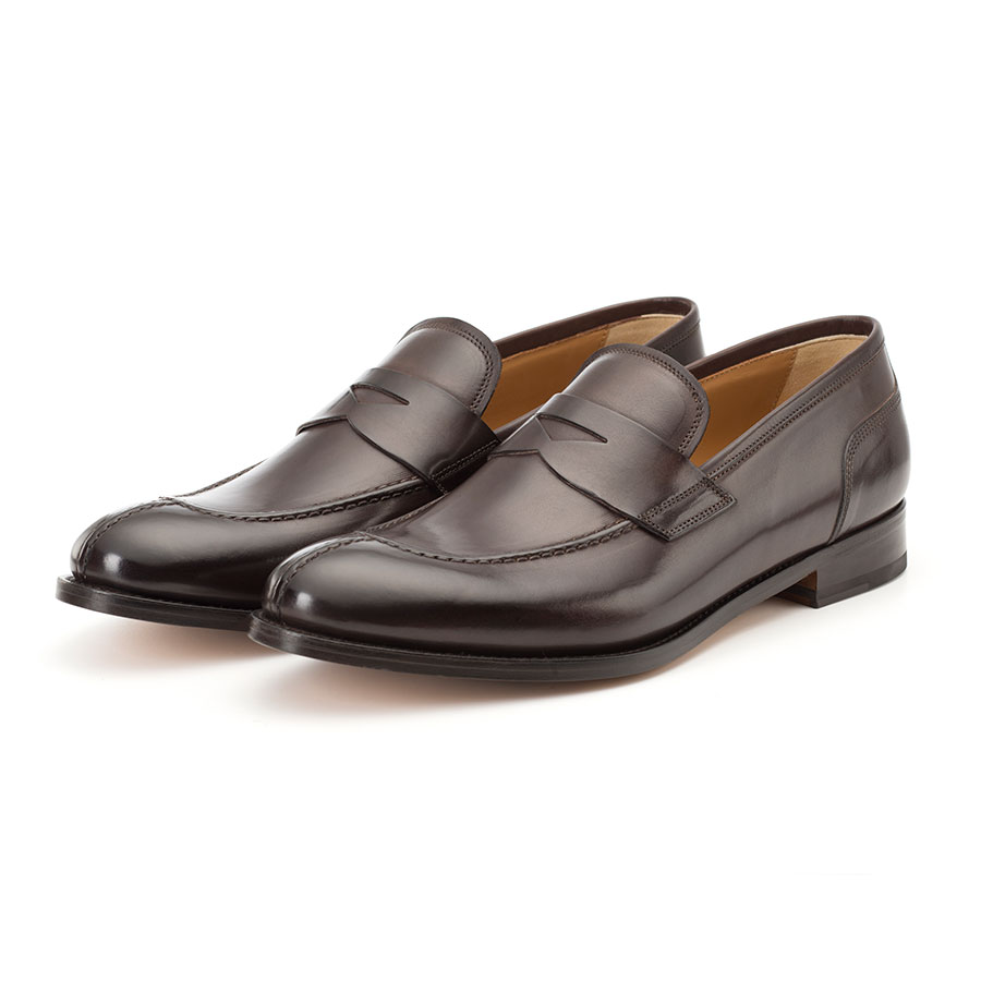 Francesco Benigno | Loafers shoes for men color chocolate Gallo leather  F2834
